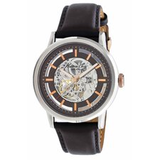 Men's Straps Automatics Watch in Brown and Rose Gold
