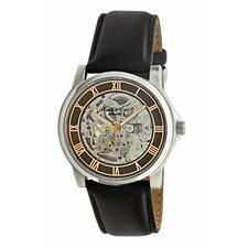 Men's Straps Automatic Watch in Brown and Rose Gold