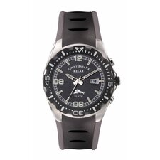 <strong>Tommy Bahama Relax</strong> Men's Beach Cruiser Relax Watch in Black and Gray