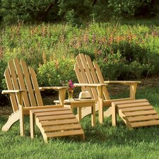 <strong>Oxford Garden</strong> Adirondack Chair and Footstool Set