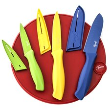 7-Piece Round Cutting Board Set