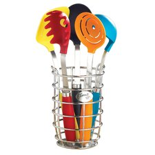 6-Piece Utensil Set with Crock