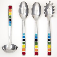 Masquerade 4 Piece Epoxy Utensil Set