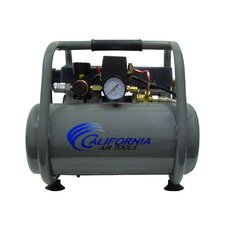 2.5 Gallon Ultra Quiet and Oil-Free 1.0 Hp Steel Twin Tank Air Compressor