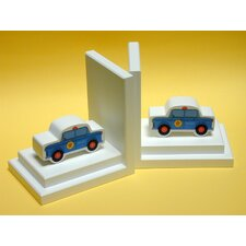Police Car Book Ends (Set of 2)