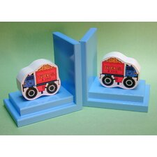Big Wheel Truck Book Ends (Set of 2)