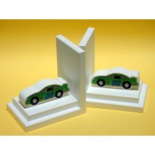 <strong>One World</strong> Stock Car Book Ends (Set of 2)