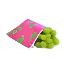 Snack Happened Reusable Snack Bag in Whale Watching Pink