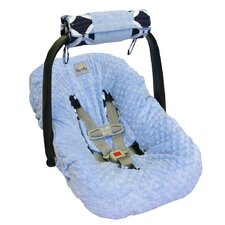 <strong>Itzy Ritzy</strong> Social Circle Blue Wrap and Roll Infant Carrier Arm Pad and Tummy Time Mat