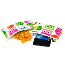 <strong>Itzy Ritzy</strong> Snack Happened Mini Reusable Hoot Snack Bag (2 Pack)