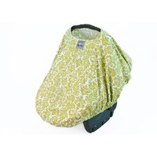 Peek-A-Boo Pod Avocado Damask Car Seat Handle