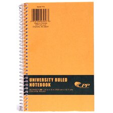 "7.75"" x 5"" College Ruled Wirebound Notebook"