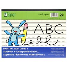 "<strong>Carolina Pad & Paper</strong> 12"" x 9"" Grade 1 Learn To Letter Pad"