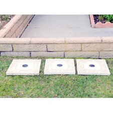 Solar Power Square Stepping Stone (Set of 3)