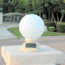 Solar Power Frosted Glass Globe Entrance Light
