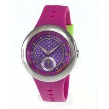 Remix Ladies Watch with Hot Pink Band