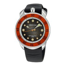 Ripplio Watch with Black Band and Red Bezel