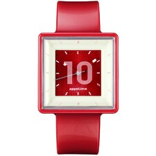 Square Watch with Red Band
