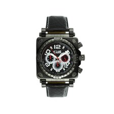 Gasket Men's Watch with Black Case and Silver Hand