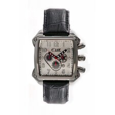 Bumper Men's Watch with Silver Case and White Dial