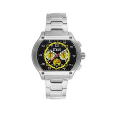 Dash Men's Watch with Silver Band and Black / Yellow Dial