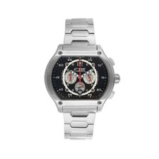Dash Men's Watch with Silver Band and Black Dial