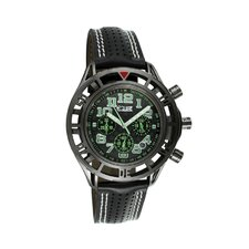 Chassis Men's Watch with Black Case and Black / Green Dial