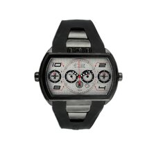 Dash XXL Men's Watch with Black Case and White Dial
