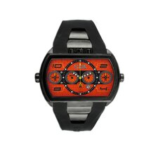 Dash XXL Men's Watch with Black Case and Orange Dial