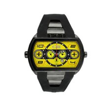 Dash XXL Men's Watch with Black Case and Yellow Dial