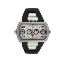 Dash XXL Men's Watch with Silver Case and Dial
