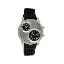 Octane Men's Watch with Silver Case and Black Dial