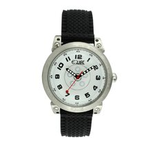 Hub Men's Watch with Silver Case and White Dial