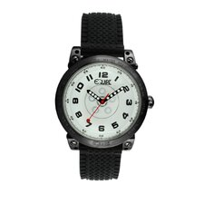Hub Men's Watch with Black Case and White Dial