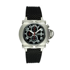 Rollbar Men's Watch with Silver Case and Black Dial