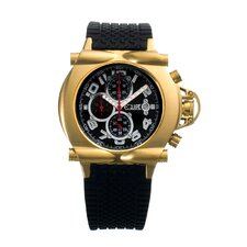 Rollbar Men's Watch with Gold Case and Black Dial