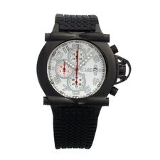 Rollbar Men's Watch with Black Case and White Dial