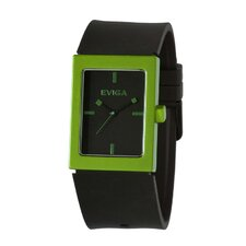 Ruta Men's Watch in Black with Green Bezel