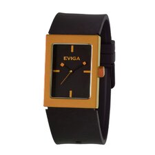 Ruta Men's Watch in Black with Orange Bezel