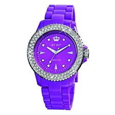 Addiction Ladies Watch in Purple with Silver Bezel