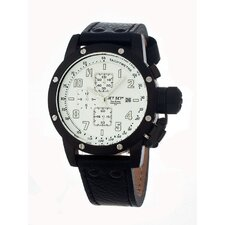 San Remo Men's Watch with Black Band and White Dial