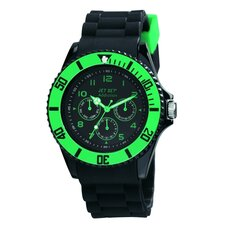 <strong>Jet Set</strong> Addiction 2 Men's Watch in Black with Green Bezel