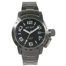 San Remo Dame Men's Watch in Silver with Black Dial