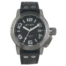 San Remo Ladies Watch with Black Band and Black Dial