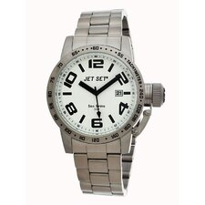 San Remo Men's Watch in Silver with White Dial