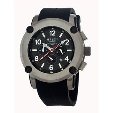 Beirut Men's Watch with Black Rubber and Silver Case