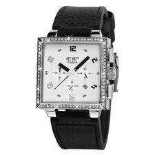 San Remo Dame Ladies Watch with Black Band and Crystal Bezel