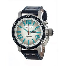 San Remo Men's Watch with White / Blue Dial