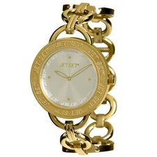 Beverly Hills Round-Shaped Case Ladies Watch in Gold