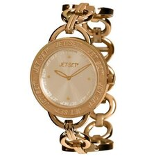 Beverly Hills Round-Shaped Case Ladies Watch in Rose Gold